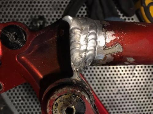 sudura tig- reparatie cadru bicicleta aluminiu